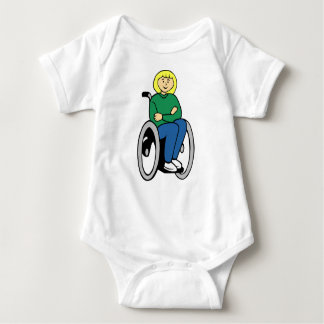 Woman in Wheelchair Baby Bodysuit