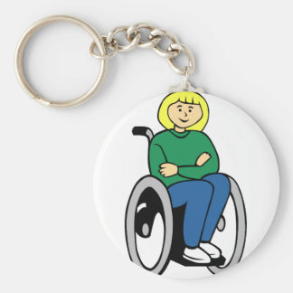 Woman in Wheelchair Key Ring