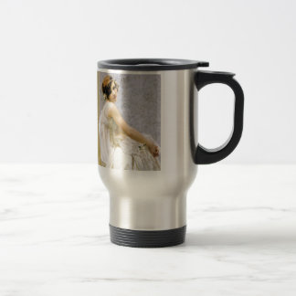 Woman in White Dress painting Stainless Steel Travel Mug