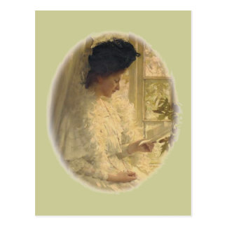 Woman in White Postcard