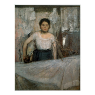 Woman Ironing by Edgar Degas Poster