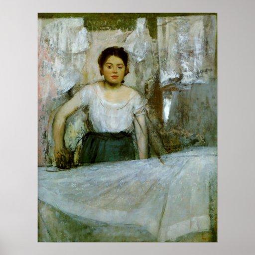 Woman Ironing Print