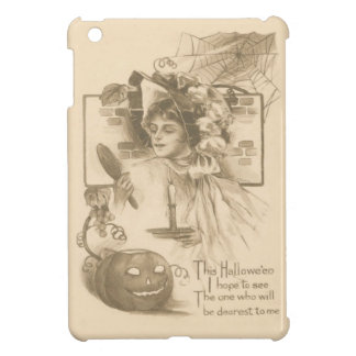 Woman Jack O' Lantern Candle Spider Web iPad Mini Cases