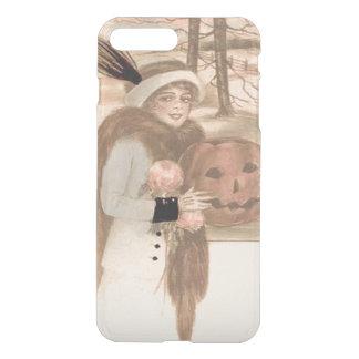 Woman Jack O' Lantern Flowers iPhone 7 Plus Case
