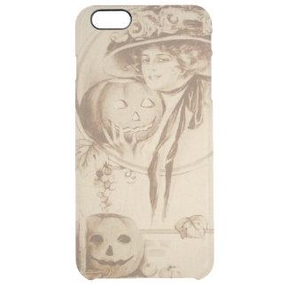 Woman Jack O' Lantern Leaf Candle Clear iPhone 6 Plus Case