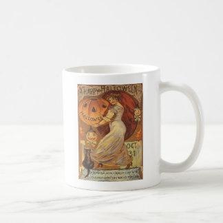 Woman & Jack O' Lantern Mugs