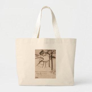 Woman Jack O' Lantern Pumpkin Crescent Moon Jumbo Tote Bag