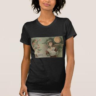 Woman Jack O Lantern Pumpkin Evergreen Horseshoe T-Shirt