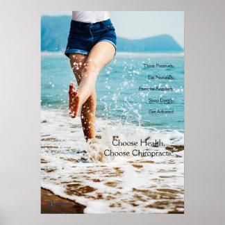 Woman Kicking Water Chiropractic Poster