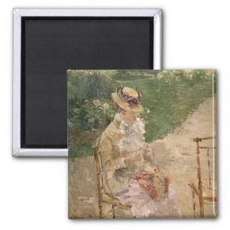 Woman Knitting, Berthe Morisot Fine Art Magnets