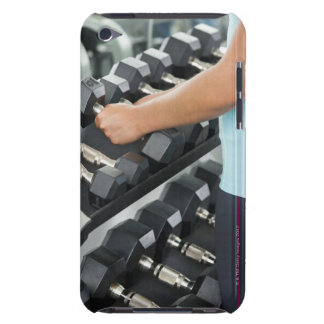 Woman lifting dumbbells 2 barely there iPod covers