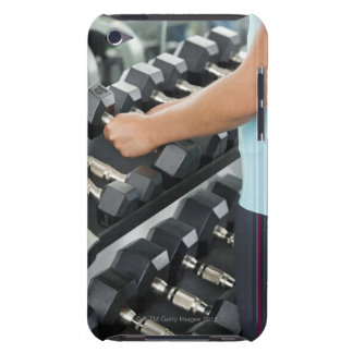 Woman lifting dumbbells 2 iPod touch case
