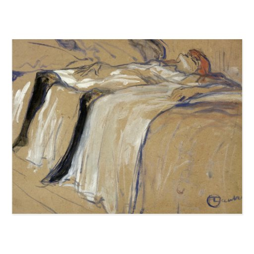 Woman lying on her Back - Lassitude Postcards