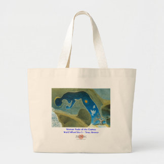 Woman Made of the Cosmos/Bag Large Tote Bag