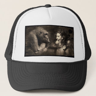 Woman Making Gorilla Laugh Trucker Hat