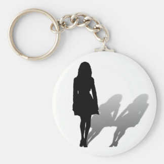 Woman Missing Woman Key Ring