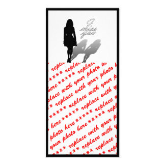 Woman Missing Woman Silhouette Customized Photo Card