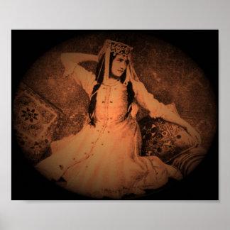 Woman of caucasus poster