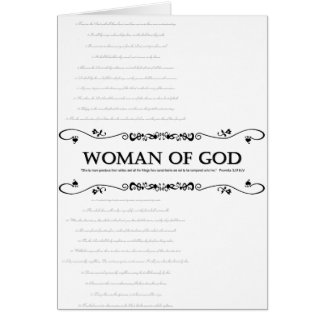 Woman of God: Vintage Style w/ Verses from Psalms Card