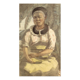 Woman of the Sandwich Islands circa 1816. Hawaii. Double-Sided Standard Business Cards (Pack Of 100)