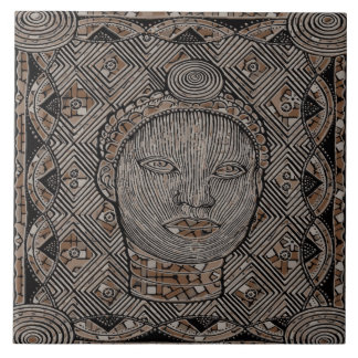 Woman of the tribe  Ceramic Photo Tile