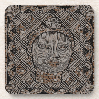 Woman of the tribe  Plastic coasters  - set of 6