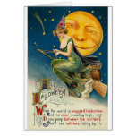 Woman on Broomstick All Halloween Card