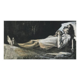 Woman on Her Deathbed, Vincent van Gogh Poster