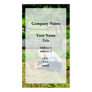 Woman Planting Garden Pack Of Standard Business Cards