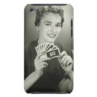 Woman Playing Cards iPod Touch Cover