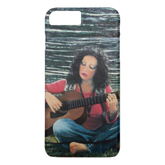 Woman Playing Music With Acoustic Guitar iPhone 8 Plus/7 Plus Case