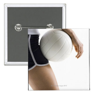 woman playing volleyball pin