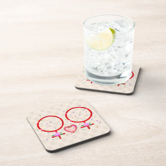 Woman Plus Woman Drink Coaster