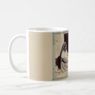Woman Polishing Pottery - 1879 Mug