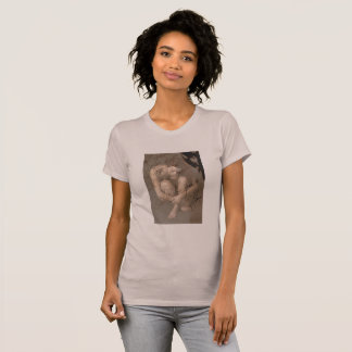 Woman Posing Deep in Thought Artsy T-Shirt