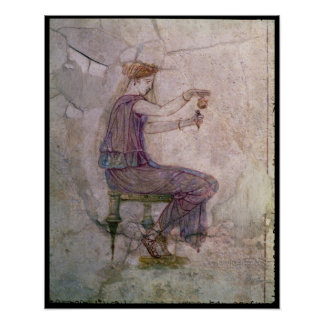 Woman Pouring Perfume into a Phial Poster
