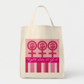 Woman Power Emblem Grocery Tote Bag