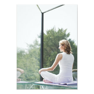 Woman Practicing Yoga 13 Cm X 18 Cm Invitation Card