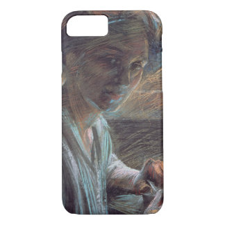 Woman Reading, 1909 (oil on canvas) iPhone 7 Case