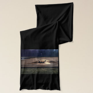 Woman Reading Inside Book at Night Scarf