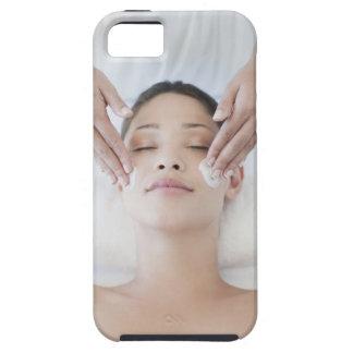 Woman receiving facial massage iPhone 5 case