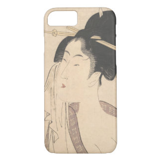 Woman Relaxing after Her Bath iPhone 8/7 Case