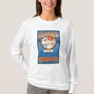 Woman Riding Ferry - Bainbridge Island, WA T-Shirt