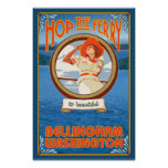 Woman Riding Ferry - Bellingham, Washington Posters