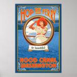 Woman Riding Ferry - Hood Canal, Washington