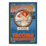 Woman Riding Ferry - Tacoma, Washington