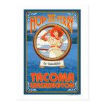 Woman Riding Ferry - Tacoma, Washington Post Cards