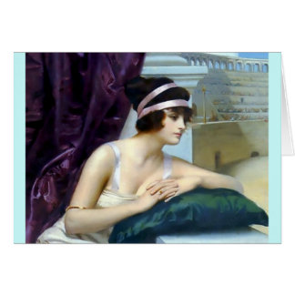 Woman Roman Colosseum painting Card