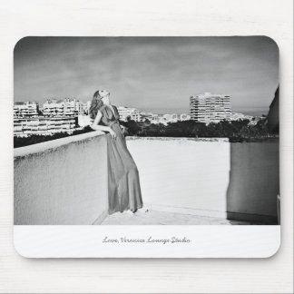 """""""Woman, Roof"""" photograph - illustrated mousepad"""