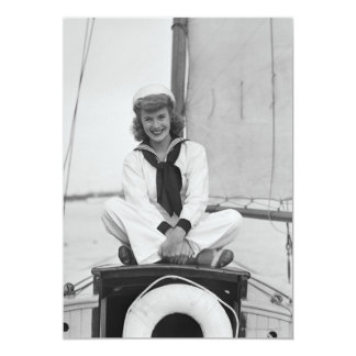 Woman Sailor Card